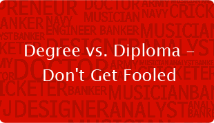 Degree vs. Diploma - Don't Get Fooled
