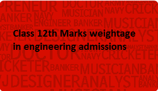 class 12th marks weightage in engineering admissions