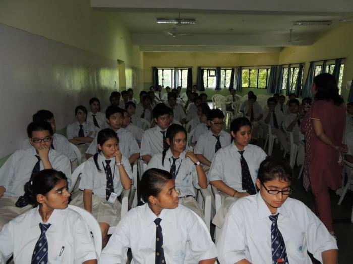 Personality test being taken by students for choosing the right career