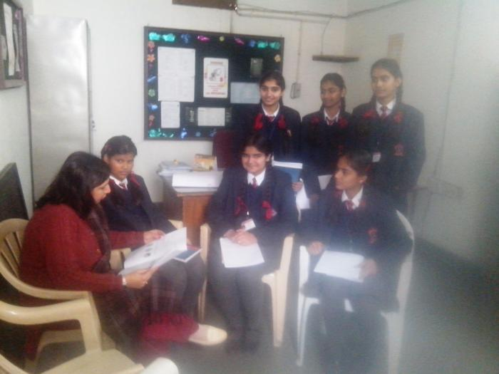 Career guidance session with students at APS Ambala