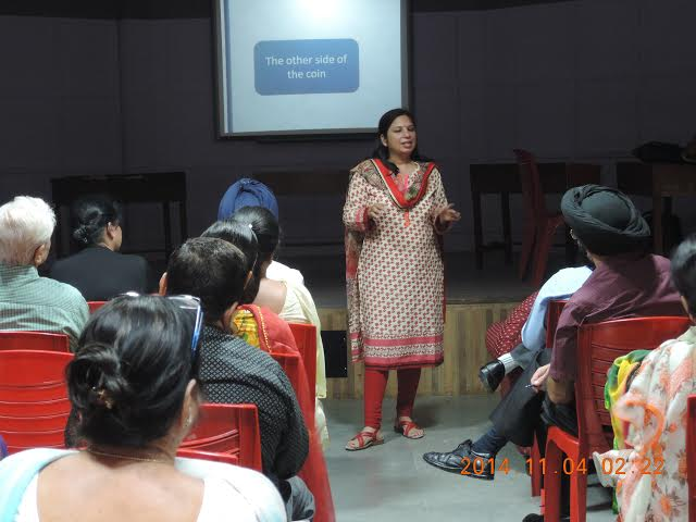 Dr Anubhuti at Parenting Session, Chandigarh